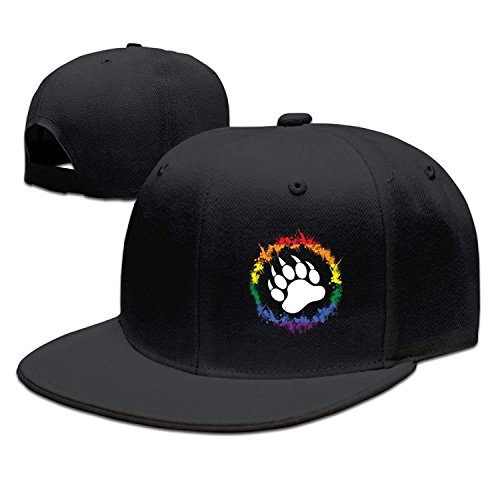 LuoKuan Michgton Bear Paw with Gay Unisex Snapback Adjustable Flat Bill Baseball Cap (Camo Cap Flat Bill)
