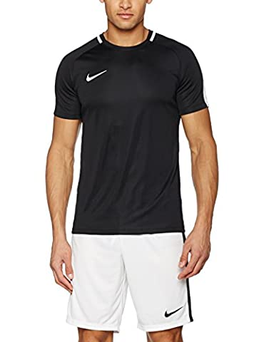 Nike Herren Dry Academy Kurzarm Top, Black/White, M