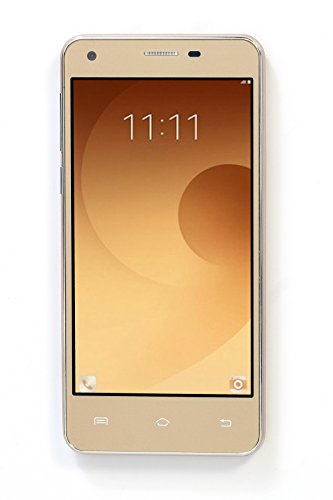 Spinup A1 Plus Three 5 Inch HD Display, 16GB RAM, Android OS 6.0 Marshmellow Mobile Phone with 2500 mAh Battery, Dual Sim, 32 GB Expandable Memory, 2.0 MP Front Camera 5.0 MP Back Camera, Quad Core, WiFi, Bluetooth, WIFI, FM Radio,(Gold)