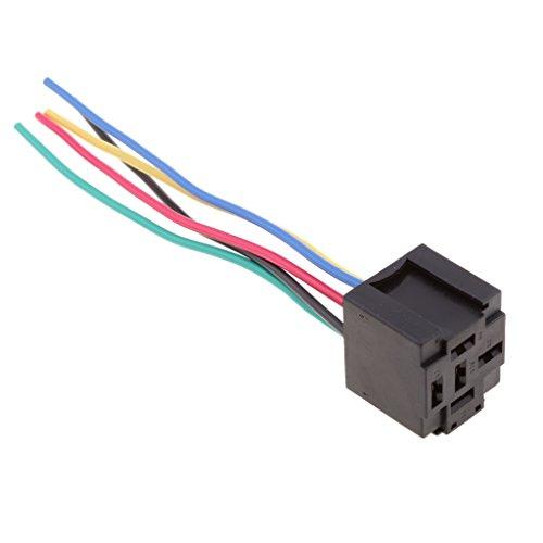 MagiDeal 12-Volt- Kunststoff -5-Stift-Relais für Autoalarme, Fernstarts, HID-Scheinwerfer, Reparatur Zubehör