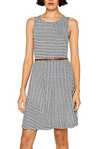 Stretch Jersey Kleid (edc by ESPRIT Jersey-Stretch-Kleid mit Streifen und Gürtel)