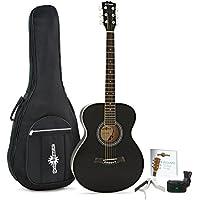 Estudiante de la guitarra acústica de Gear4music + Pack de accesorios Black