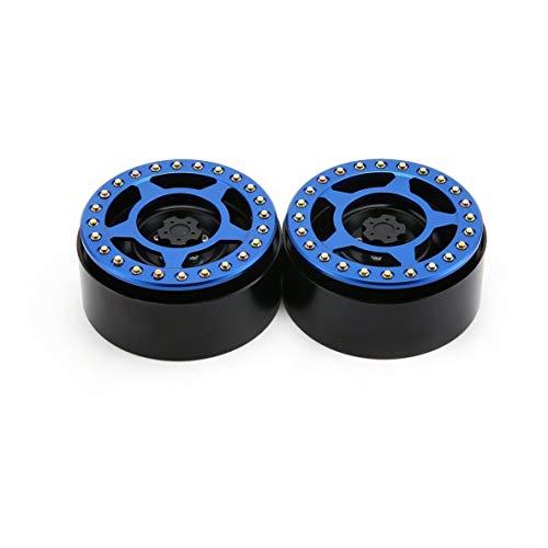Noradtjcca 1 Paar / 2 Paare Legierung 2,2 CNC Beadlock Räder Felgen CJGLG0019 für 1/10 RC Crawler Axial SCX10 SCX10 II 90046 Traxxas TRX4 D90 -