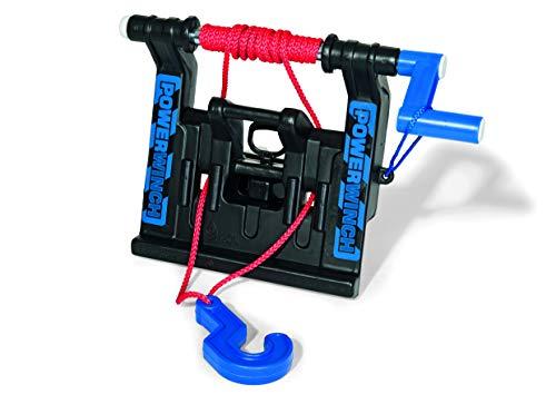 Rolly Toys 409280 Seilwinde Powerwinch, passt an Front und Heckkupplung aller großen Traktoren und Unimog (geeignet für Kinder ab 3 Jahren, Farbe Schwarz)