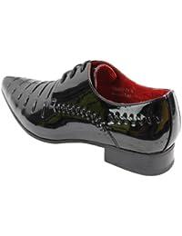 Chaussures homme design italien lacets simili cuir PU brillant verni chic  tendance 7a57d0794b8c