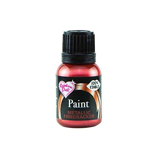 Rainbow Dust - 100% essbare Lebensmittelfarbe 25 ml (Metallic Firecracker) (Icing Deko-flaschen)