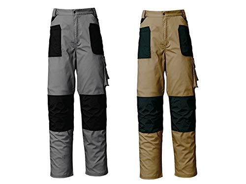 Industrial Starter 8028C0002009 Pantaloni Elasticizzati da Lavoro, Grigio/Nero, S