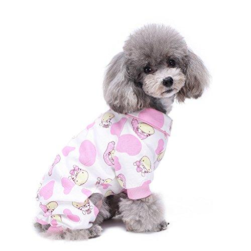 tumes Outfit Zebra Muster Komfortable Puppy Schlafanzug Weiche Hunde Jumpsuit Shirt Best Geschenk 100% Baumwolle Mantel für kleine und mittlere Hunde (Fett Outfit Ideen)