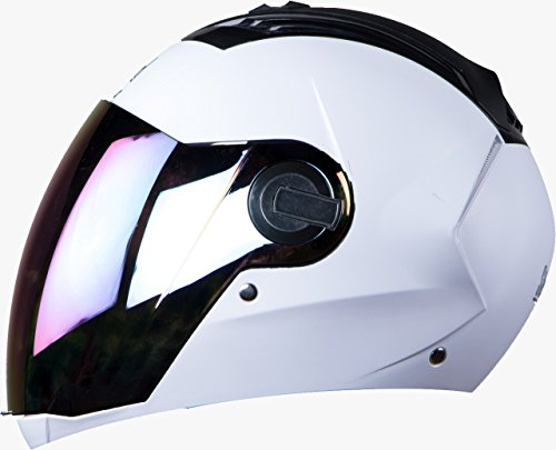 Steelbird Sba 2 Full Face Helmet ( Mat White) With Extra Visior (600)
