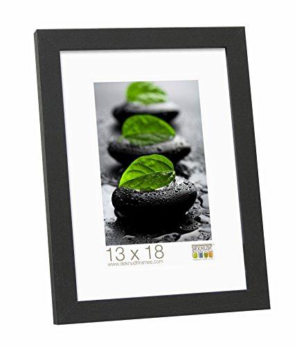Deknudt Frames S44CF2 Basic Cadre Photo Bois/MDF Noir Fin 30 x 45 cm