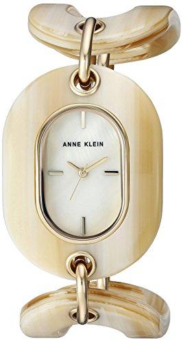 Anne Klein Women's AK-2674HNGB Tan Resin Japanese Quartz Fashion Watch
