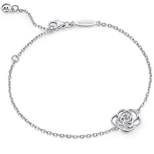 WISHMISS Bracelet Argent 925 Femme, Bijoux Femme Argent 925, Cadeau pour la F
