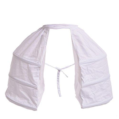 BLESSUME Viktorianisches Kleid Doppeltes Pannier Petticoat, Weiß