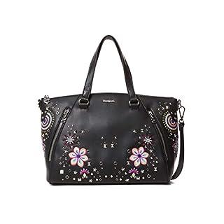 Desigual Damen Bag Apolo Piadena Women Henkeltasche, Schwarz (Negro), 10x23.8x29.8 cm