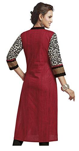 Jevi Prints Women's Unstitched Kurti Material (Pack of 2)(Saheli_1204_1225_Multi-Coloured_Free Size)
