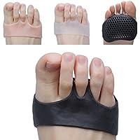 Sumifun - Cojín de bola de pie transpirable, 5 pares almohadillas de metatarsia, antepiés, transpirable y gel suave, mejor para pies diabéticos, callos y ampollas, fascitis plantar, antepié