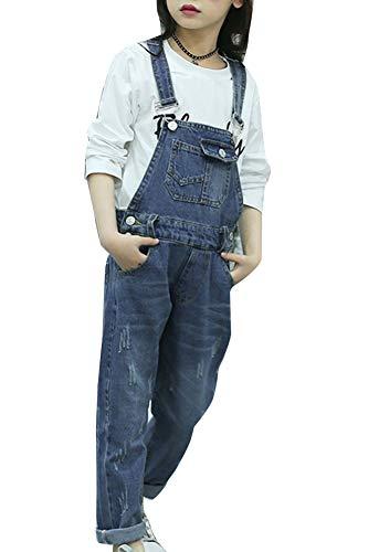 Runyue Niñas Mono Pantalón Mezclilla Jeans Overalls