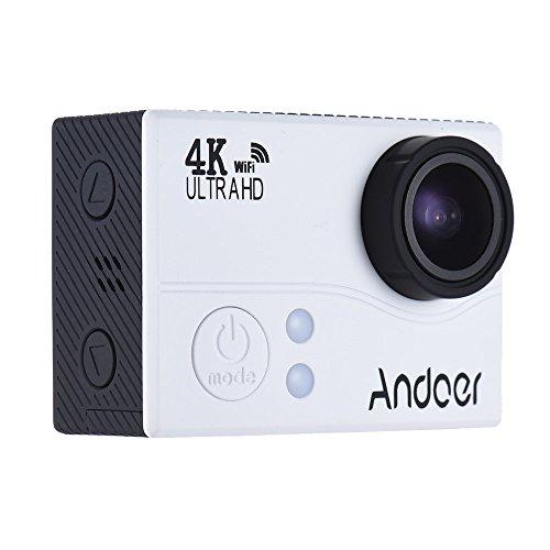 Andoer 4K 1080P 60FPS Full-HD-DV 2.0in LTPS LCD-Schirm Wifi Wasserdicht 45M 170 ° Weitwinkel Außen Action Sports Kamera Videokamera Digital Cam Video-Auto-DVR -
