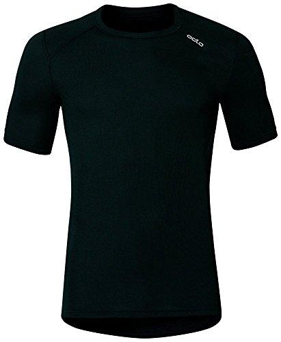 Odlo Herren Shirt Short Sleeve Crew Neck Warm, Black, L, 152032