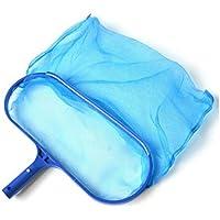 Piscina cabezal pesado Lavado pared Pincel Pool Skimmer Net Recoge hojas, Recogehojas para piscinas, Azul[tamaño: 42.5x29cm]