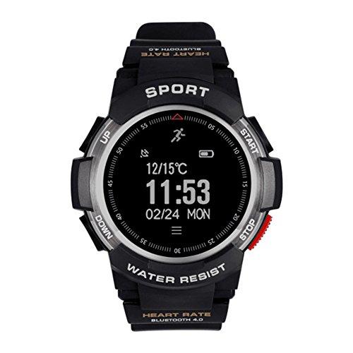 Mlec tech 1PC no.1F6Bluetooth 4.0Smart Watch grande schermo touch GPS per esterni IP68impermeabile nuoto corsa multi-funzione orologio Bluetooth, Silver