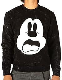 Elevenparis, homme, bimickey Sweat Full Black Acid, coton, sweat-shirt, noir