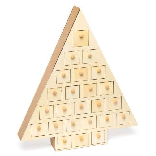 1dd5b2d66f5b67 Baker Ross Calendario dell'Avvento in Legno per Bambini, da colorare e  Decorare a. Amazon Prime