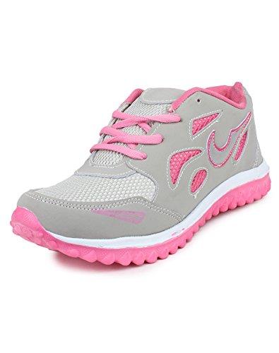 Pede Milan ASD Astar-14 Mesh Sports Shoes for Women (7 UK, Pink)