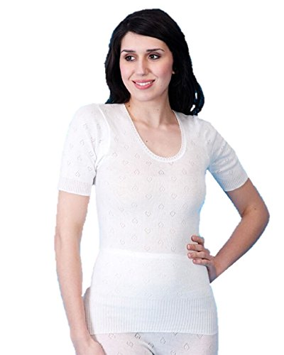 Womens Snowdrop Soft Thermal Kurzarm Plain Spencer Schwarz oder Weiß White