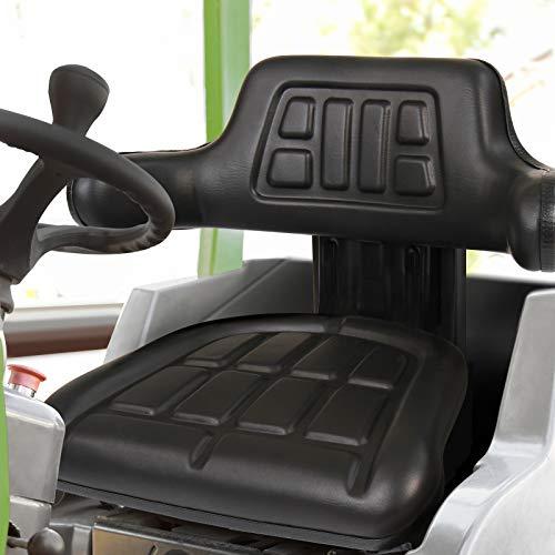 Traktorsitz mit Armlehne und Federung   Längenverstellbar, belastbar bis 130 kg   Treckersitz, Schleppersitz, Traktor, Schlepper