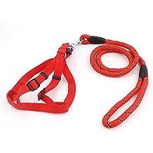 Perros Unido Juego de perro de color correa y arnés del perro 2pcs de nailon para perros mascotas