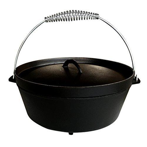 Dutch Oven 12QT mit Füßen Dutch-Oven aus Gusseisen Fertig eingebrannt 12er Koch-Topf aus Gusseisen voreingebrannt