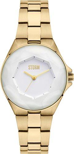 Storm London CRYSTANA 47254/GD Montre Bracelet pour femmes Plat & léger