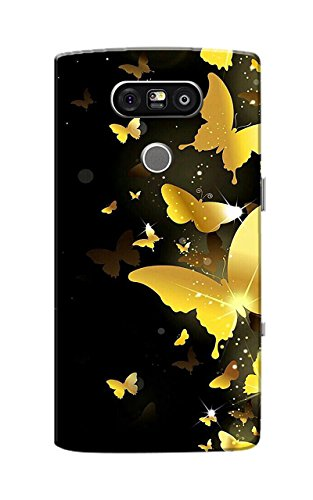 LG G5 Case, LG G5 Dual H860N Case, LG G5 SE Case, LG G5 Lite Case, Butterflies Golden Black Slim Fit Hard Case Cover/Back Cover for LG G5 SE/G5 Lite/G5 Dual H860N/LG G5  available at amazon for Rs.129