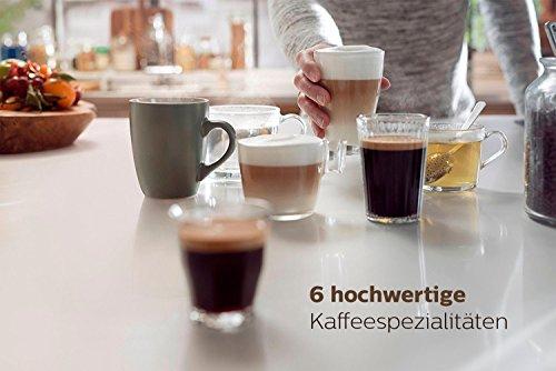 Philips EP5360/10 Kaffeevollautomat (1,8L, integrierte Milchkaraffe, 5 Kaffeespezialitäten) klavierlack-schwarz