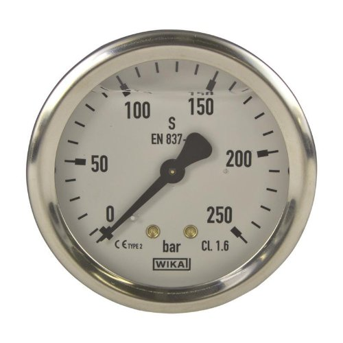 Manometer, NG 63, 0-250 bar - WIKA 213.53 - 9022449 (Manometer Flüssigkeit)