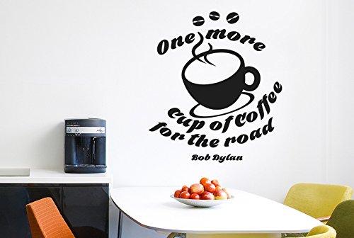 One More Tasse Kaffee für Road Wand Sticker Kunst Aufkleber-Groß (Höhe 57cm x Breite 65cm) schwarz ()