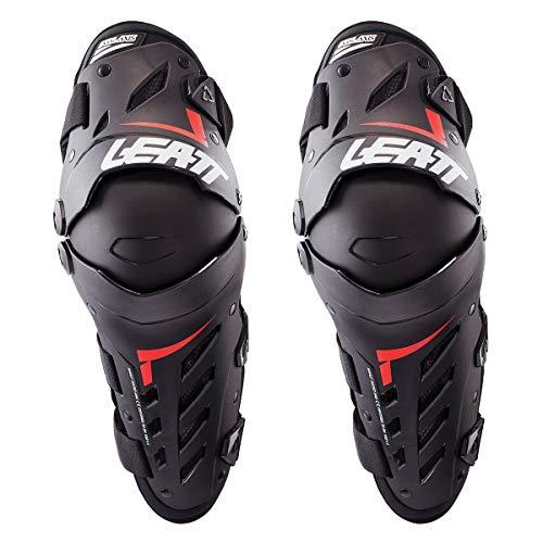 Leatt Dual Axis Knie/Schienbein Protektoren S/M Schwarz/Rot