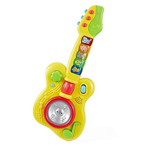 Think Gizmos Juguetes de Aprendizaje Musical para niños pequeños (Guitarra Musical)