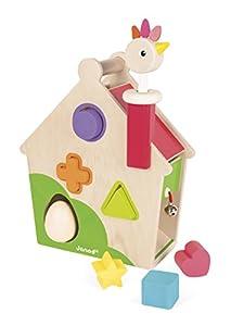 Janod Casa de Actividades gallinita, zigolos (Juratoys J08232), Multicolor