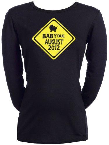 Spoilt Rotten - CUSTOM Due Date - Femmes T-shirt de grossesse Noir, XXL