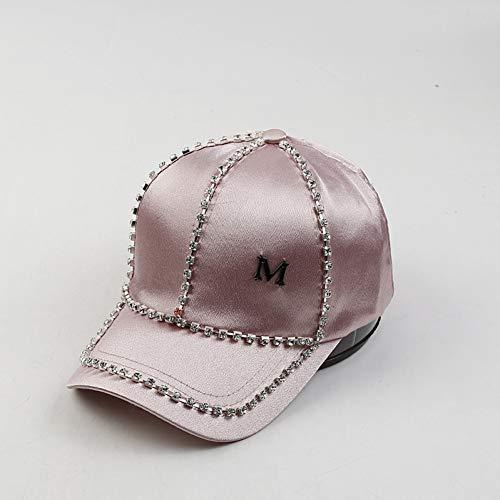 JJHR Baseball caps Strass Letters Damen Sommer Satin Hut Im Freien Sonnenschirm Cap Baseballmütze