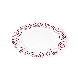 GMUNDNER KERAMIK Speiseteller Gourmet | Durchmesser : 29 cm | Rotgeflammt | Geschirr, handgemacht in Österreich