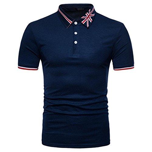 Styledresser sconto polo uomo maglietta uomo –camicetta da uomo –t-shirt da uomo sportiva– abbigliamento uomo –sportiva da uomo– uomo t-shirt in cotone basic–felpa (marina militare, s)