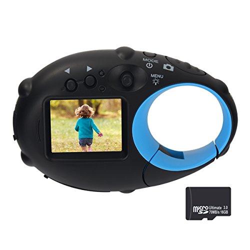 Funkprofi Mini Kinder Kamera ab 3 Jahre, Digitalkamera für Kinder Kids Photo Camera Action Camcorder Kompakt Kamera 1280P Video 500 Millionen Pixel 1,5-Zoll-Farbbildschirm (mit 16GB TF-Karte)