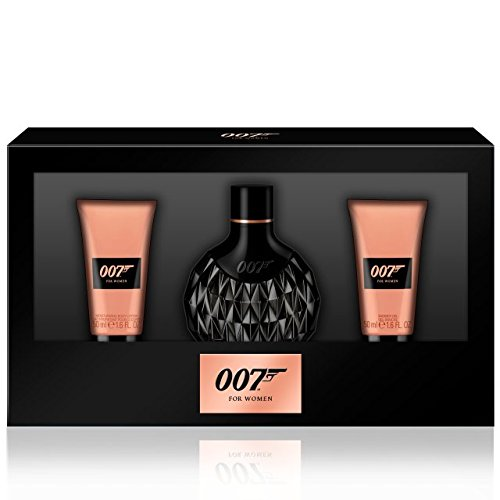 James Bond 007 Donna Set regalo: 50ml Eau de Parfum + 50ml Doccia gel + 50ml Latte Corpo