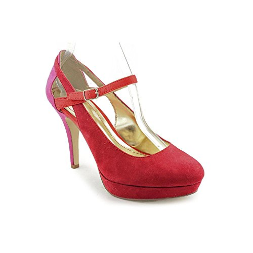 Style & Co Jeannie Rund Stoff Plateauschuh Rouge