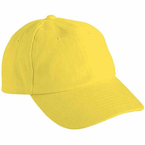 Myrtle beach - Casquette visière unie 6 panneaux coton - MB6111 - jaune - mixte adulte