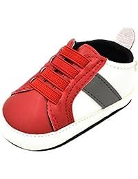 65f9fc82849a9 YanHoo Zapatos para niños Zapatillas de Deporte Antideslizantes para bebés  de Color a Juego Newborn Kids