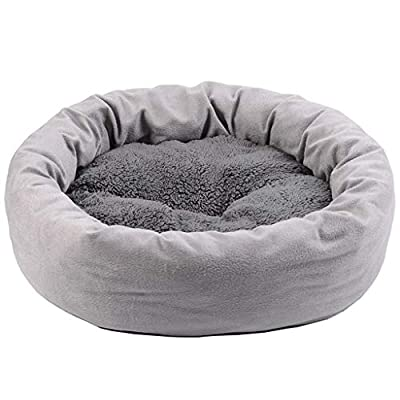 WWWWW Cat Litter Dog Bed Sleeping Mat Egg Tart Plus Velvet Overall Soft Warm And Velvet Fabric Wear-resistant Bite Warmth Excellent Gray Pet bed by WWWWW